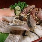 旬彩料理 てん - 太刀魚と〆サバの炙り丼