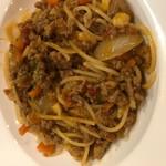 ばーる ばなーれ - 自家製ミートソーススパゲッティ カレー風味