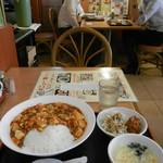 竹園 - 麻婆丼セット大盛¥600