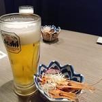 74095148 - 生ビールとお通し