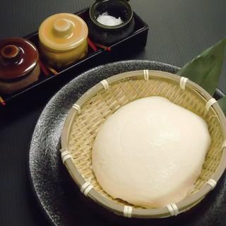 自家製手作りざる豆腐