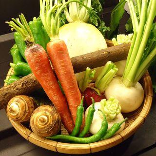 京野菜をふんだんに取り入れたメニュー