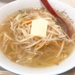 どさん子 - 塩ラーメン(650円)+バター(100円)