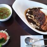レストラン ユっぴー - ビーフカレーカツのせセット(1,180円)