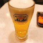 本物のやきとん 筑前屋 - 生ビール