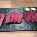 馬肉バル プニー - 馬刺し特選3種盛り
