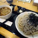 淳真 - ピリ辛肉つけそば950円+大盛り(1.5倍)200円