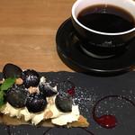 THE BROOKLYN CAFE - 皮ごと食べられちゃうジューシーなぶどうがクリームとめっちゃ合います!コレ好き♡気に入ったぁ(^○^)/