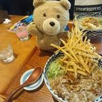 増田うどん - 肉うどんにごぼうトッピング