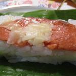 明治屋蕎麦店 - 笹すし 鮭