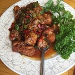 中国茶房8 - 辛い鶏料理