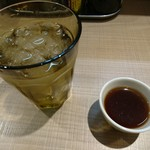74114114 - 食前にプーアル茶提供