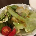 キッチン トーキョー - ランチステーキコースのサラダ