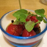 china bistro 八寸 - ミニトマト黒酢風味