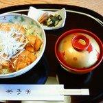 水半茶寮 - 美濃けん豚のロースポークジンジャー丼