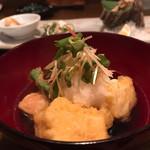 瀬戸内鮮魚料理店 - 無花果と豆腐の揚げだし(*^^*)