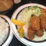 キッチンABC - カキフライ定食(750円)