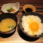 ROKUMON - 青森下北卵使用玉子 掛けご飯 味噌汁漬物付