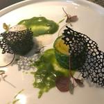 D'ORO HATSUDAI - 太刀魚のプレッセ 春菊ソース