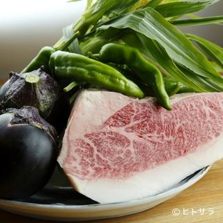 """尾崎さんの""""尾崎牛""""など、生産者の顔が見える食材を厳選"""