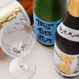 海の幸を使ったフランス料理は日本酒とも相性抜群