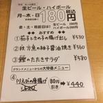 74125759 - 竹子メニュー