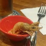 海老料理専門 プラウン&ロブスターバー えびっとる - 赤座海老のフリットのお通し
