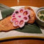 瓢 - 時鮭塩焼き 小付 数の子サラダ