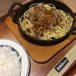 天神ビービー・キュイジーヌ - ビーフバター焼き600円 ライス200円