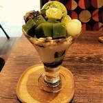 MARUFUJI CAFE - 抹茶パフェも頼みました〜♪  アイスが美味しい❤️