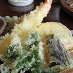 手打ちそば たねや - カリカリに揚がった絶品の天ぷら。<2011_04>