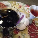 四季の蔵 食楽亭 - 食後のアイスコーヒー&ブルーベリー黒酢