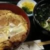 八幸 - 料理写真:カツ丼750円、+ミニうどん200円