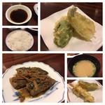 天ぷら ふそう  - 糠炊き定食の天ぷらは2回に分けて出されます。 天ぷらは安定、糠炊きも美味しいです。お味噌汁は具はないよw