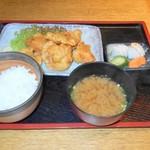 寿ぎ乃家 - 料理写真:鳥の唐揚げ定食