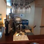 cucina Wada - 2階のドリンクコーナー。