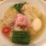饗 くろ喜 - 特製塩そば1250円 麺大盛り100円