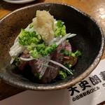 天史朗寿司 - 料理写真:お通し(ウルメイワシの刺し身)