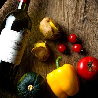 自然派野菜は契約農家さん直送!新鮮・素材が自慢◎
