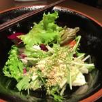 燈弥 - 湯葉と水菜のサラダ