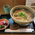 京都大原の味噌鍋専門店 雲井茶屋 - 味噌きのこうどん