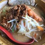 麺場 田所商店 - 九州麦味噌野菜ラーメン、炙りチャーシュー1枚トッピング