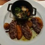 ビストロ アギャット - 鴨肉と巨峰と桃のロースト温野菜添え