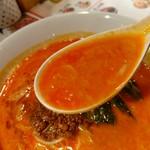 陳麻家 - 【2017.10.3(火)】坦々麺(並盛・130g)710円のスープ
