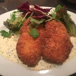 Les pif et dodine - 鶏ムネ肉のパネ 特製タルタルソース