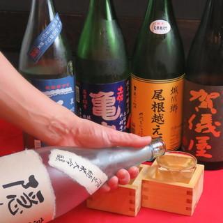 愛媛の日本酒を中心に幅広く取り揃えております!