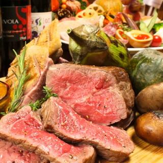 肉食家も納得!自慢の薪窯で焼き上げるお肉の数々…