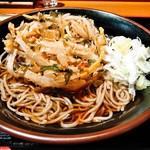 小木曽製粉所 梓川店 - かき揚げ+蕎麦