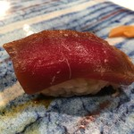 第三春美鮨 - 漬けシビマグロ 背 赤身 熟成4日目 延縄漁 北海道戸井