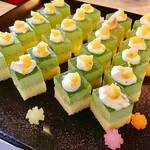 八鶴亭 - 抹茶ケーキ